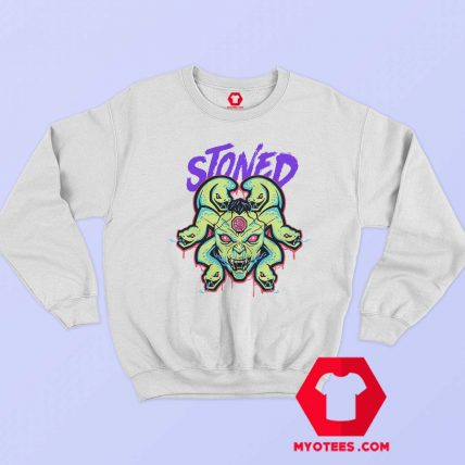 White Stoned Medusa Unisex Adult Sweatshirt