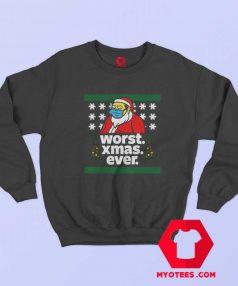 Bart Simpson Worst Christmas Sweatshirt
