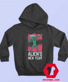 Dabbing Alien New Year Christmas Funny Hoodie