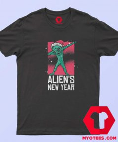 Dabbing Alien New Year Christmas Funny T Shirt