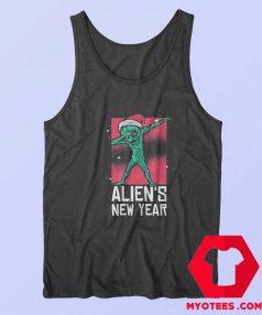 Dabbing Alien New Year Christmas Funny Tank Top
