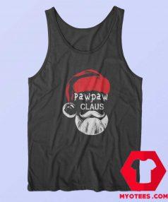 Funny Pawpaw Claus Christmas Grandpa Tank Top