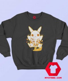 Funny Pokemon Pikachu Skeleton Sweatshirt