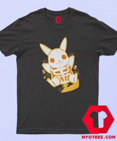 Funny Pokemon Pikachu Skeleton T Shirt