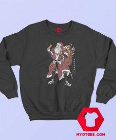 Funny Santa Samurai Christmas Unisex Sweatshirt