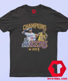 Los Angeles Dodgers Lakers Champions T Shirt