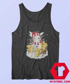 Pikachu Snowman Christmas Holiday Tank Top