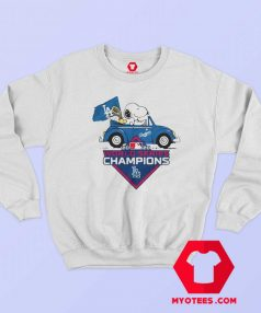 Snoopy And Woodstock LA Dodgers Sweatshirt
