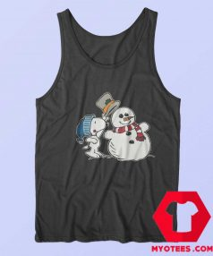 Snoopy Peanuts Snowman Christmas Tank Top