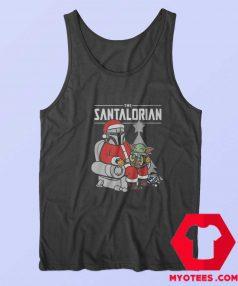 Star Christmas Baby Yoda Mandalorian Tank Top