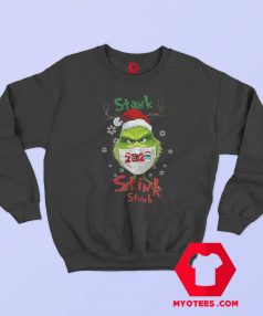 The Grinch Face Mask Christmas Funny Sweatshirt