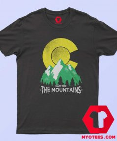 The Mountains Colorado State Flag T Shirt