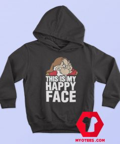 This Is My Happy Face Disney Grumpy Hoodie