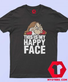 This Is My Happy Face Disney Grumpy T Shirt