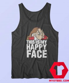 This Is My Happy Face Disney Grumpy Tank Top
