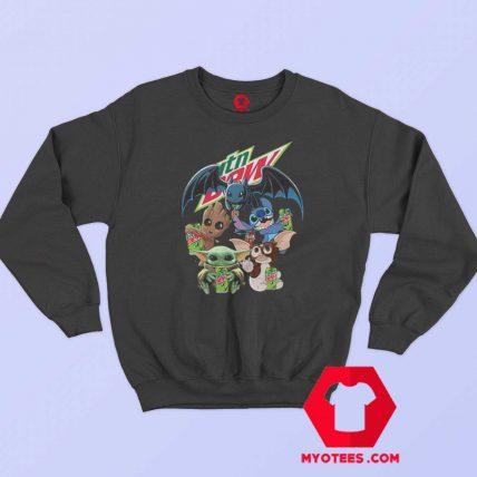 Yoda Baby Groot and Toothless Stitch Gizmo Sweatshirt