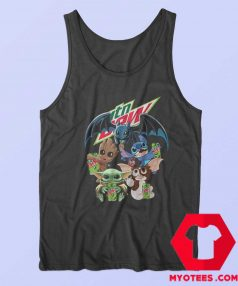 Yoda Baby Groot and Toothless Stitch Gizmo Tank Top