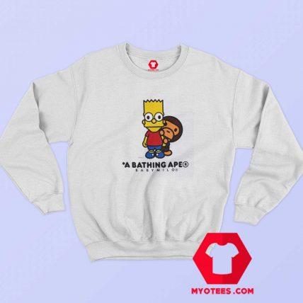 BAPE X The Simpsons Baby Milo Behind Sweatshirt