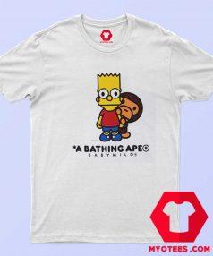 BAPE X The Simpsons Baby Milo Behind T Shirt