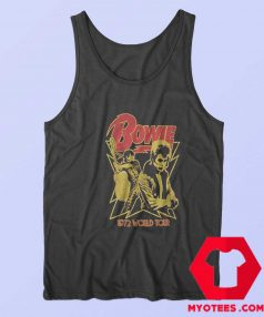 David Bowie 1972 World Tour Unisex Tank Top Cheap