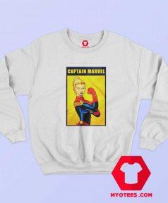 Funny Captain Marvel The Riveter Poster Sweatshirt