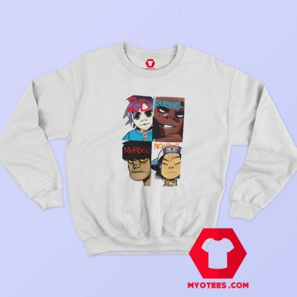 Funny Cartoon Gorillaz Members Sweatshirt