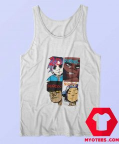 Funny Cartoon Gorillaz Members Tank Top