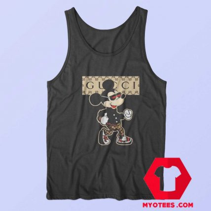 Funny Parody Gucci Mickey Mouse Tank Top 1