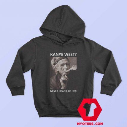 Keith Richards Kanye West Unisex Hoodie