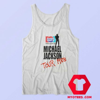 Michael Jackson BAD Pepsi 1988 Tank Top