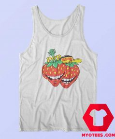 Vintage Pop Rocky Strawberry Magazine Tank Top