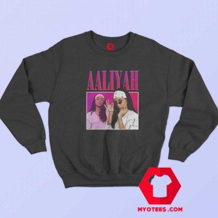 Awesome Vintage Retro Aaliyah 90S Rapper Sweatshirt