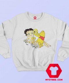 Betty Boop And Winnie Pooh Love Honey Sweatshirt