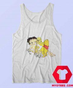 Betty Boop And Winnie Pooh Love Honey Tank Top