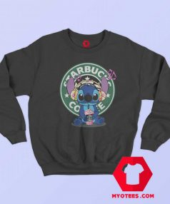 Cute Disney Stich Parody Coffee Starbucks Sweatshirt