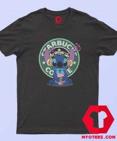 Cute Disney Stich Parody Coffee Starbucks T Shirt