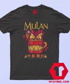 Disney Mulan Mushu Dragon Stone Head T Shirt