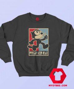 Felix The Cat Poster Funny Cartoon Unisex Sweatshirt