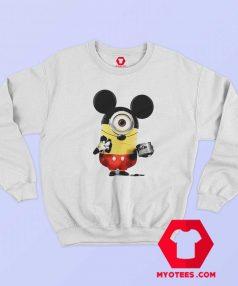 Funny Minion Cosplay Mickey Mouse Sweatshirt