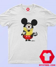 Funny Minion Cosplay Mickey Mouse T Shirt