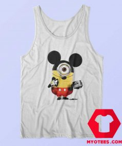 Funny Minion Cosplay Mickey Mouse Tank Top