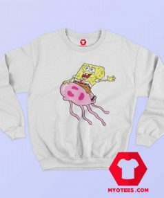 Funny SpongeBob Up On jellyfish Unisex Sweatshirt