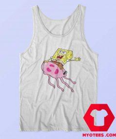 Funny SpongeBob Up On jellyfish Unisex Tank Top