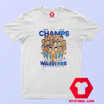 Golden State Warriors NBA Champs Caricature T Shirt