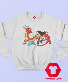 Mushu and Mulan Friendship Funny Cartoon Sweatshirt