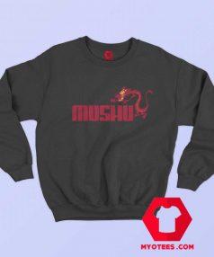 Red Mushu Mulan Dragon Parody Logo Sweatshirt