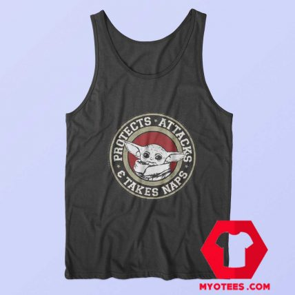 The Child Protects Attacks Star Wars Unisex Tank Top