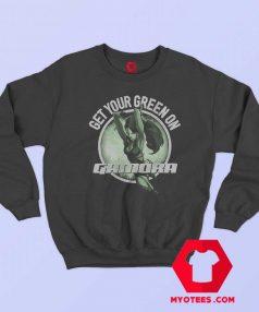 The Guardians Of Galaxy Gamora Green Sweatshirt