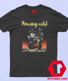 Vintage Running Wild Under Jolly Roger T Shirt
