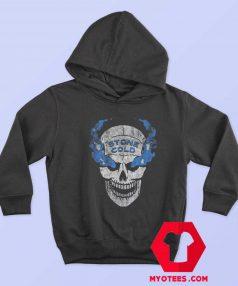 WWE Stone Cold Distressed Blue Smoke Hoodie